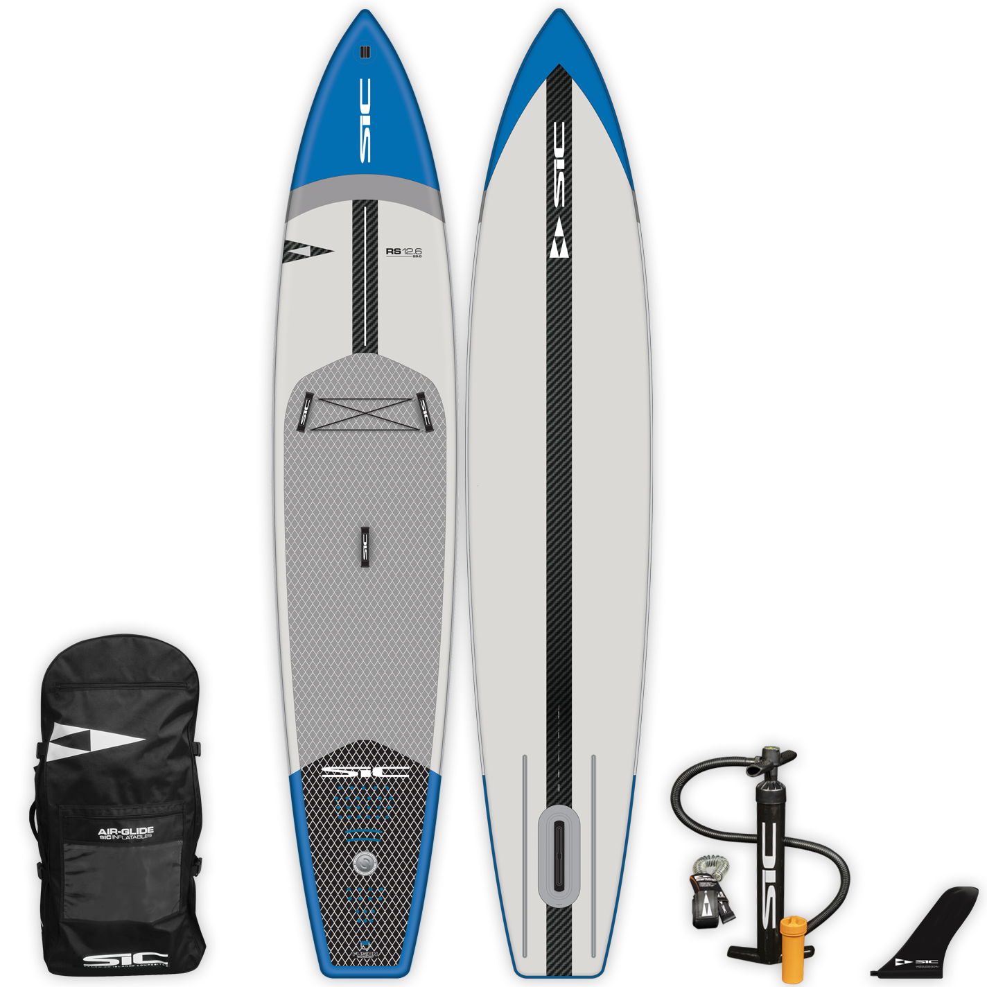 "INFLATABLE SIC SUP - RS AIR-GLIDE (CFL)  12'6"" x 29"" - Deck - 105223"