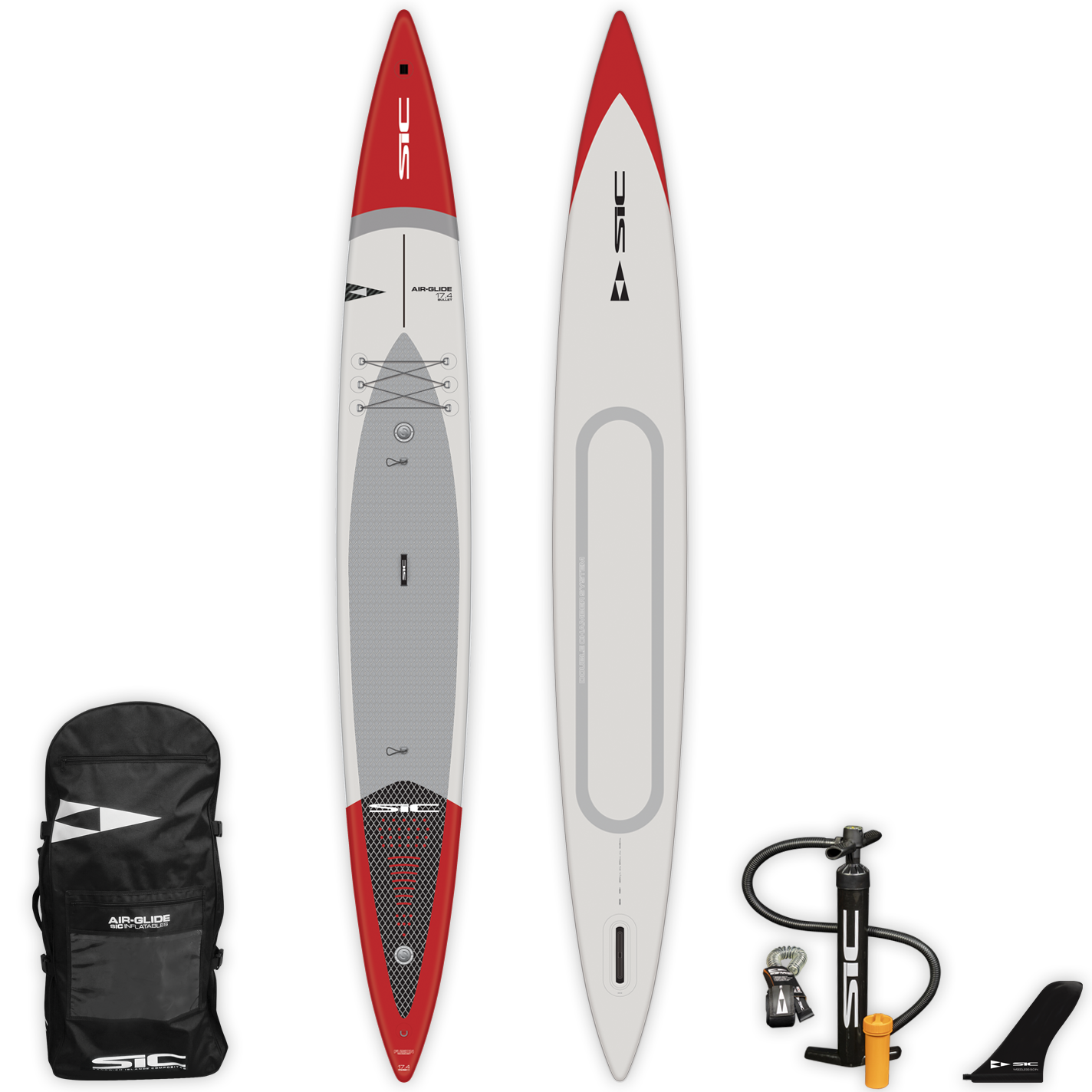 "INFLATABLE SIC SUP - BULLET AIR-GLIDE (FST) 17'4"" x 26.6"" - Deck - 105227"