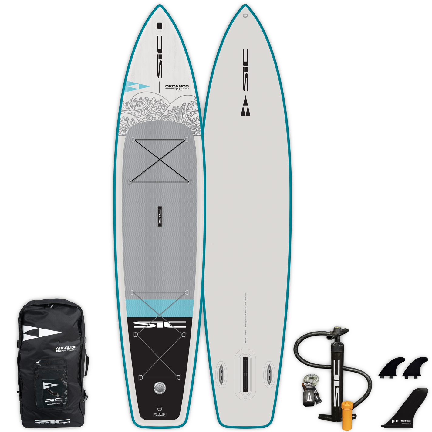 "INFLATABLE SIC SUP - OKEANOS AIR-GLIDE (FST) 11'0"" x 29"" - Deck - 105228"